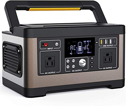 LILIS Portable Generator Portable Power Station 520Wh Solar Generator Backup Lithium Battery With 500W AC Outlets DC Ports QC3.0 USB Type-C For Outdoor Camping RV Emergencies Home