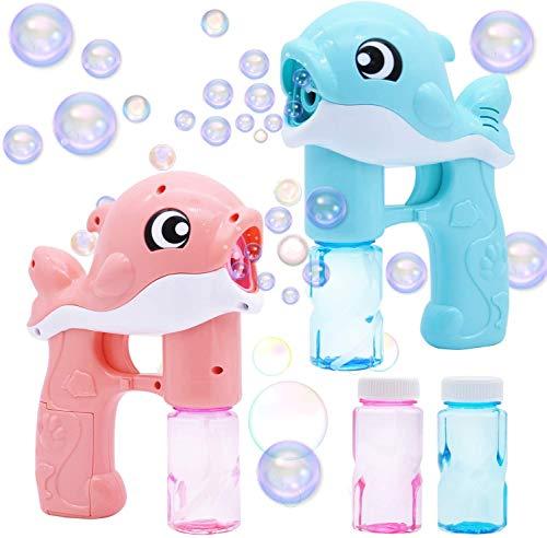 WRQNB Máquina de soplador de Burbujas de Burbujas de Burbujas de Burbujas de Burbujas con soplador de Burbujas para Burbujas de Burbuja favores de Fiesta, Juguete de Verano, cumpleaños,Pink