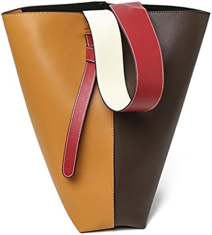 Die handtasche.,khaki mit gelb. B07558VV61    Klassischer Stil ba5123