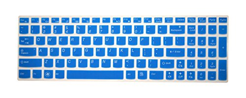 PcProfessional Blue Ultra Thin Silicone Gel Keyboard Cover for Lenovo IdeaPad Z50, Y50, Y500, Y510P, G50, G500, G500s, G505, G505s, G510, G570, G575, G770, G580, G585, G710, G700, G780, Flex 15, Flex 2 Laptop with Application Kit (Please Compare Keyboard Layout and Model)