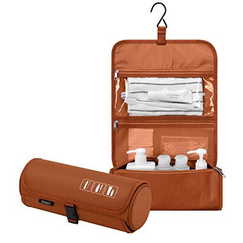 Gonex Hangende Toilettas, Waterdichte Travel Toiletruimte Organizer Cilinder Make-up Tas voor Mannen & Vrouwen met Ingebouwde Haak