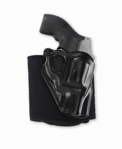 Galco Ankle Glove/Ankle Holster for S&W J Frame 640 Cent 2 1/8-Inch .357 (Black, Right-Hand)