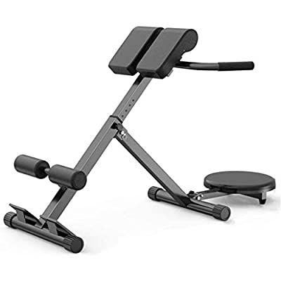 Kusou Folding Roman Chair Exercise Hyper Bench Adjustable Bench Extension Back Exercise Waist Plate Machine Strength Training Equipment Home Gym Workout Fitness