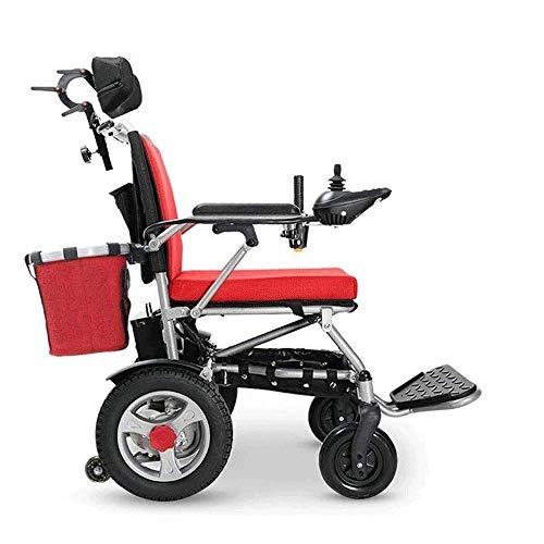 Wheelchair,Electric Wheelchair Elderly Disabled Elderly Intelligent Automatic Portable Scooter Multifunctional Folding PortableWheelchair