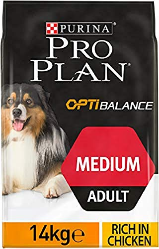 Purina Pro Plan Dog Optihealth Adult Medium 14Kg Mangimi Secchi per Cani, Multicolore, Unica