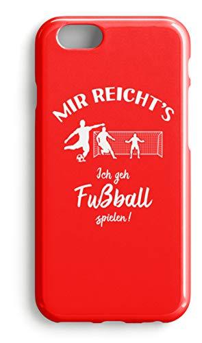 shirt-o-magic Handyhülle Fußballer: Ich geh Fußball spielen! - Case -iPhone 7-Rubinrot