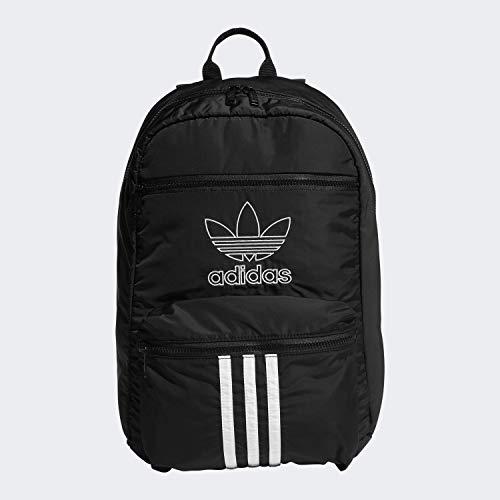 adidas Originals Unisex National 3-Stripes Backpack, Black/White, ONE SIZE