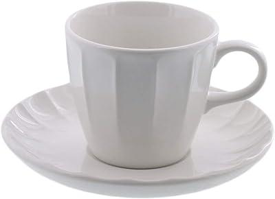 テーブルウェアイースト コーヒーカップ&ソーサー しのぎ ミルク コーヒーカップセット カップ&ソーサー カフェ食器