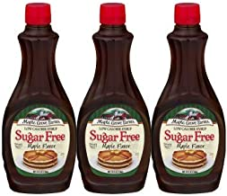 Maple Grove Farms Syrup Maple Sugar Free, 24.0 FL OZ (Pack of 3)