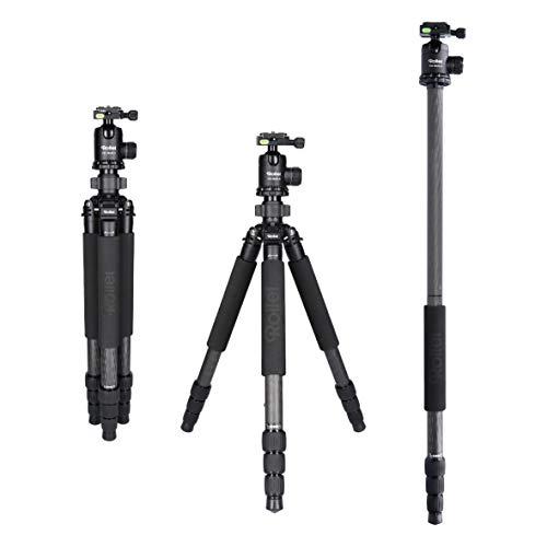 Rollei Rock Solid Beta Mark II inkl Kugelkopf T5S Carbon, professionelles Kamera Stativ mit 25kg Tragkraft I Perfekt für Reise & Naturfotografie