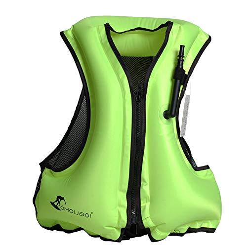 RUIXFAP Respirable Chaleco Salvavidas Inflable, Chaleco De Flotación para Esnórquel Infantil, Chaleco Salvavidas De Gran Tamaño para Botes De Flotación para Adultos Duradero