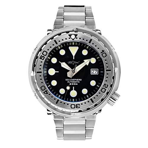 AMOY Reloj de buceo para hombres, relojes automáticos de atún, reloj de pulsera mecánico, deportivo, 20 bares, BGW9, espejo luminoso de zafiro, Reloj de hombre 1,...