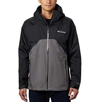 Columbia Men s Rain Scape Jacket Black/City Grey Large Tall