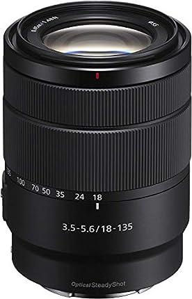 Sony Lente Zoom (Montura E, Formato APS-C, 18-135 mm F3.5-5.6 OSS, Zoom de 7.5 X), Color Negro