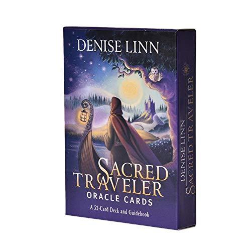 Sacred Traveler Orakelkarten, Card Deck und Guidebook Cards Denise Linn führt Sie zu einer persönlichen spirituellen Transformation für Familien-Tischkartenspiele – 52 Stück