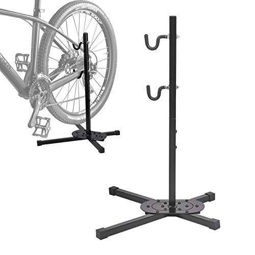 Indoor Bike Storage Rack Bicycle Floor Parking Stand Bicycle Repair Rack Displaying Stand for Mountain and Road Bike Maintenance Indoor Outdoor Garage Storage for 3055 Pound Bike or Ebike