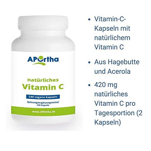 NordHit Vitamin C aus natürlichen Quellen – 240 Kapseln - 4