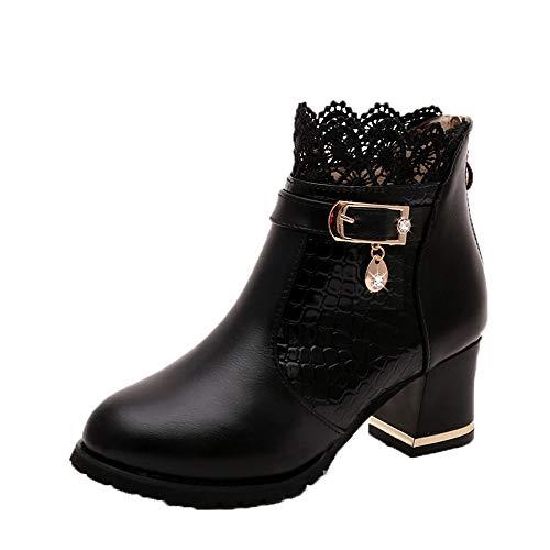 ZYUEER Femmes Talon Lacet De Soiree Chaussures...