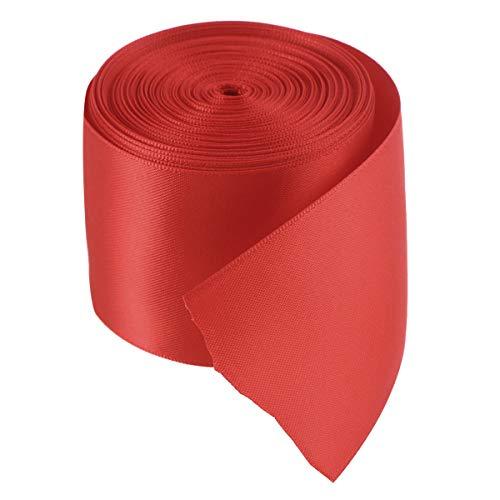 Artibetter 1 Rollo 10 M Cintas de Envoltura de Regalo de la Cinta del Grosgrain Doble Cara de Bricolaje para el Embalaje de artesanía Cintas de Lazo (Rojo)