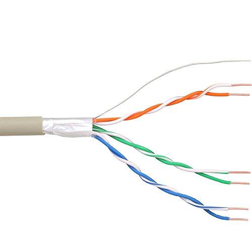 InLine 69976C Telefon-Kabel 6-adrig, 3x2x0,6mm, zum Verlegen, 25m Ring