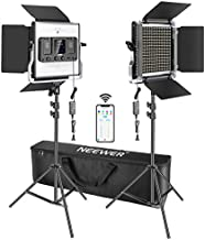 Neewer 2 Packs 660 LED Video Light with APP Control, Photography Video Lighting Kit with Light Stands, Dimmable 40W Bi-Color 3200K-5600K High CRI with Diffuser/Barndoor/Bag for Studio YouTube Shooting