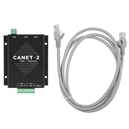 Ethernet-naar-CAN-interface-converter, CANET-2, 32-cijferige 2-weg CAN-bus naar LAN-TCP/IP-gegevensadapter met netwerkkabel