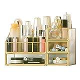 ROSG Organizador de Maquillaje Antiguo, joyería Ajustable, encimera Retro, Caja de Almacenamiento de cosméticos, para cepillos, Barras de Labios, Cuidado de la Piel, tóner, Perfume, tocador