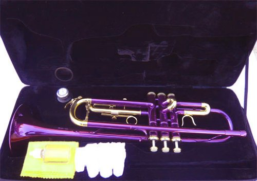 New Purple Concert Band Trumpet w/case-Approved+Warranty