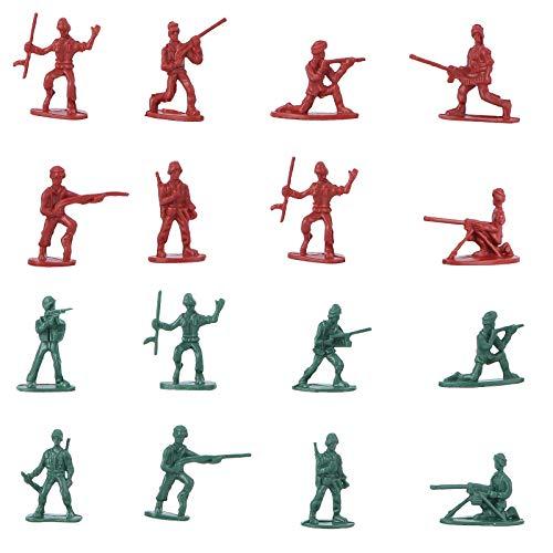 YeahiBaby Figuras de Soldados de Plástico Modelo Estático para Niños 100 Piezas (Color al Azar)