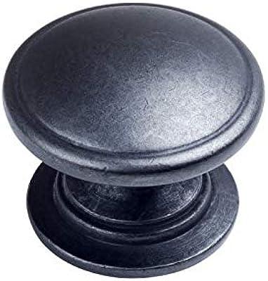 Wide Base 4702BAB 10 Pack 10 Pack Cosmas 4702BAB Brushed Antique Brass Cabinet Hardware Round Knob 1-1//4 Diameter
