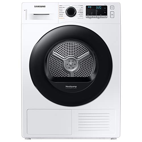 Samsung Elettrodomestici DV90T5240AT/S3 Asciugatrice Ai Control Optimal Dry, Front Load, 9 kg, Bianco