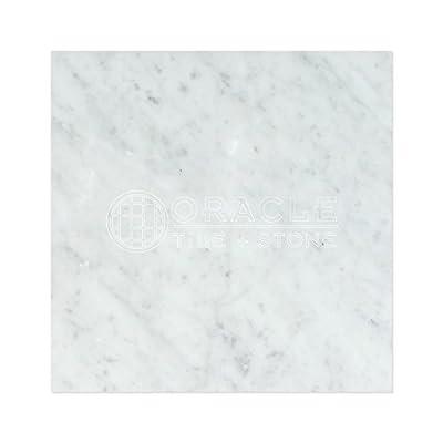 Carrara White Italian (Bianco Carrara) Marble 18 X 18 Field Tile