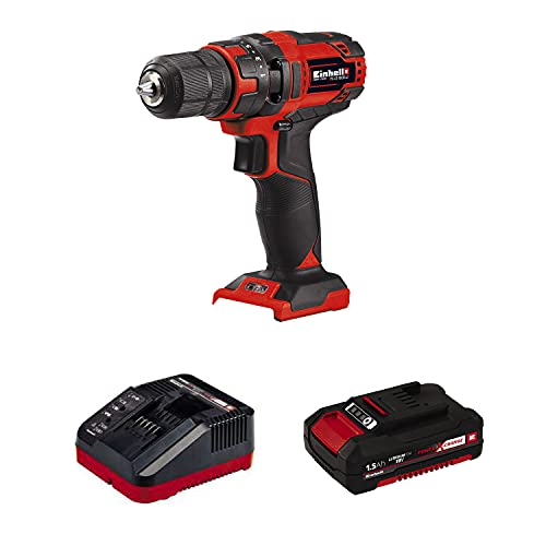 Einhell TE-CD Power X-Change 18-Volt Cordless 3/8-Inch Variable Speed Drill/Driver, w/ 310 In-Lbs Torque, 20+1 Torque Settings, 550-RPM MAX, LED Light