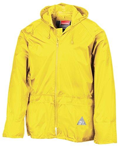 RT95 Jacke und Hose Set Regenanzug wasserdicht XXL,Neon Yellow