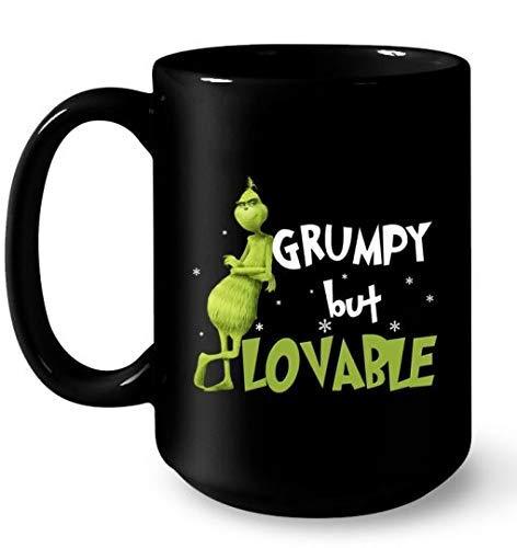 Lplpol Grinch Grumpy But Lovable Christmas Kaffee Tee Tasse Geschenk Kaffee Tee Tasse 325 ml Kaffee Tee Tasse