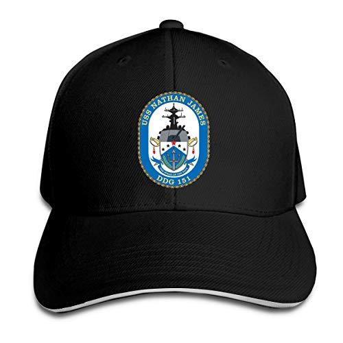 USS Nathan James(DDG-151) Baseball Caps Sandwich Caps Black