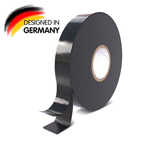 Rietlow Doppelseitiges Klebeband Extra Stark - Universal Montageband aus widerstandsfähigem PE-Schaum - Schwarzes Doppelseitiges Klebeband 25mm x 10m - Verbessertes Konzept 2020