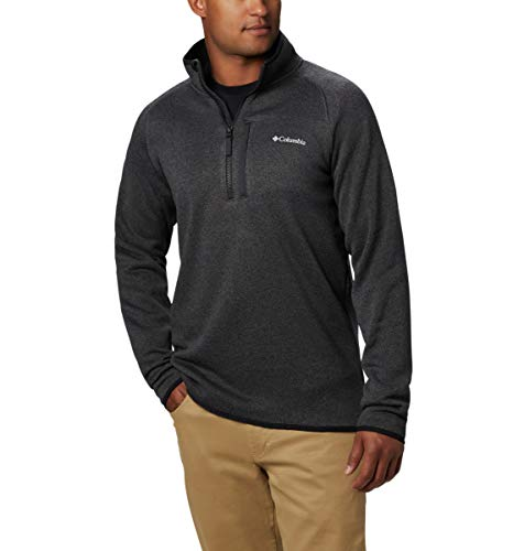 Columbia Men's Canyon Point Sweater Fleece 1/2 Zip, Black ,Medium