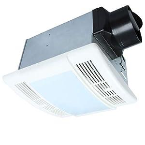 Bathroom Fan with Light Ultra Quiet 90CFM 1.5Sone Ventilation Fan Exhaust Fan with LED Light?12W E26 Base LED Bulb Included?Akicon