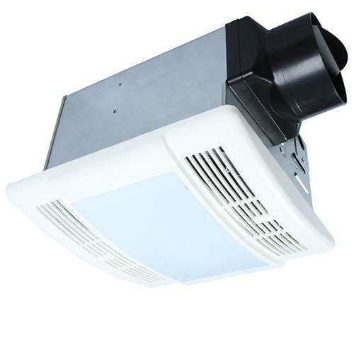 Bathroom Fan with Light Ultra Quiet 90CFM 1.5Sone Ventilation Fan Exhaust Fan with LED Light(12W...