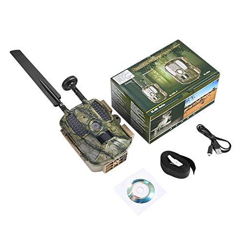 Nrpfell Caza Cámara GPS Inalámbrico 4G Fdd LTE Control Remoto de Aplicaciones Camo Game Trail Cámara Fauna Silvestre Trampa Fotográfica 4G 3G HD (EU 4G)