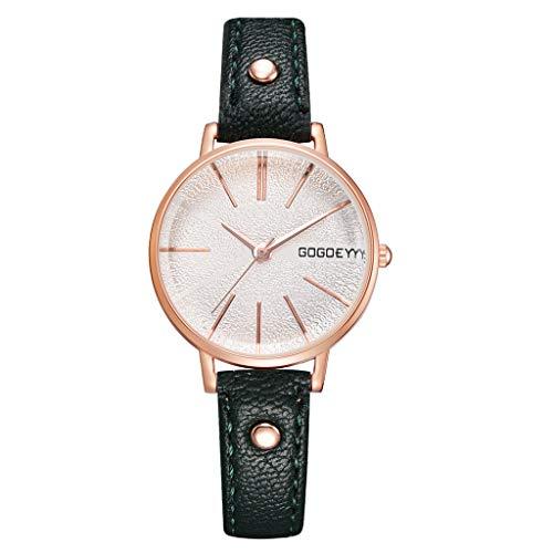 TWISFER Damen Uhr Casual Analoge Quarz Damenuhr Frauen Armbanduhren mit Lederband Minimalistische Mode Quarz Damenuhr