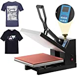 HikeGeek Pro 15'x 15' Heat Press Teflon Clamshell Digital Transfer T-Shirt Press Sublimation Transfer Machine Heat Press Machine for T Shirt (15' X15' T-Shirt)