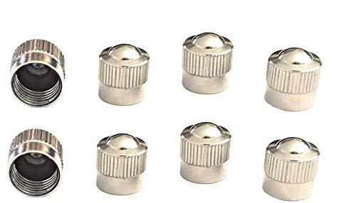 8er-Set Metall-Ventilkappen für Auto Motorad Fahrrad Roller und Kinderwagen Radventilkappen Reifenventilkappen Ventildeckel Autoventilkappen car Valve caps