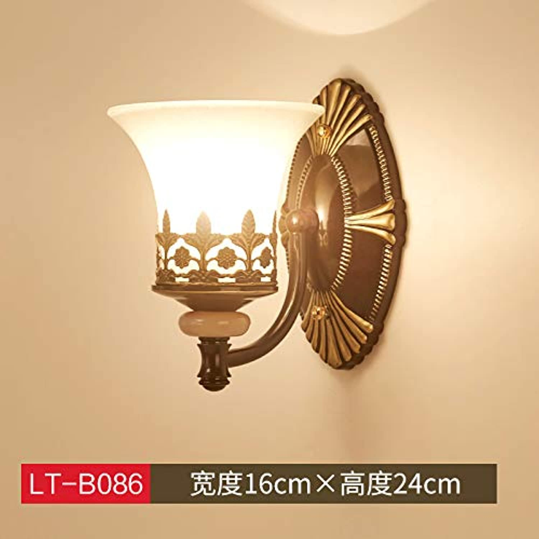 Agorl Nordic nachttischlampe wandleuchte schlafzimmer einfache kreative beleuchtung wohnzimmer gang wandleuchte, khaki LT 086 + warmes licht