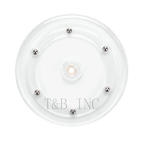 T&B 6 inch Lazy Susan Turntable Organizer White Acrylic for Spice Rack Table Cake Kitchen Pantry Decorating