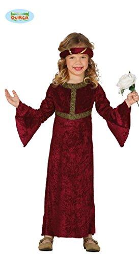 Burgfräulein - Kostüm für Mädchen Gr. 98 - 146, Größe:140/146