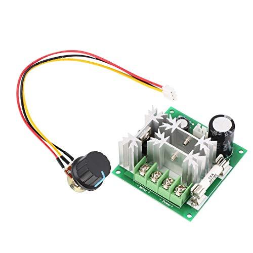 Swiftswan Controlador de interruptor PWM de control de velocidad de motor CC 6V-90V 15A DC 1000W