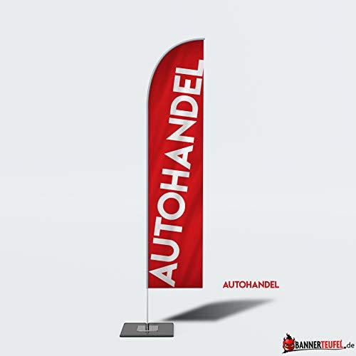 Bannerteufel Beachflag Neueröffnung Aufsteller Außenschild Neueröffnung Werbung Messestand Fahne Kundenstopper DIY Winddurchlässig in verschiedenen Größen, (Autohandel)