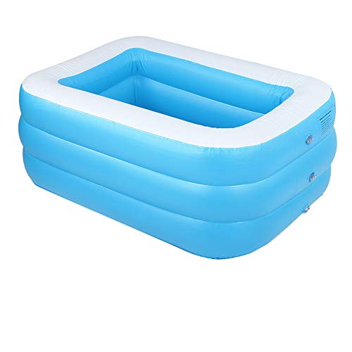Vbest life Piscina Inflable de Gran tamaño para niños, Piscina Infantil de Alta Resistencia para Uso doméstico para Equipos de Juego en Interiores y Exteriores(Azul)